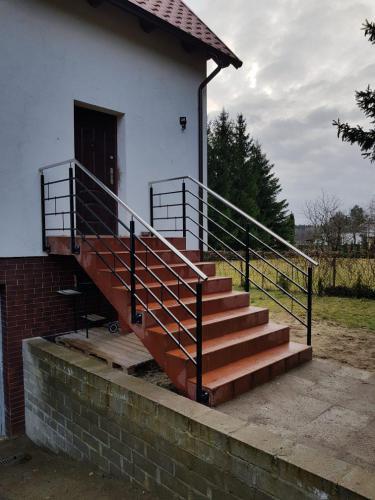 Barierka na schody na Mazurach